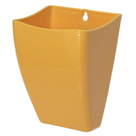 Cachepô para jardim vertical amarelo