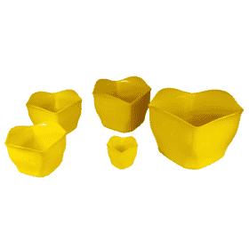 Cachepô plástico amarelo