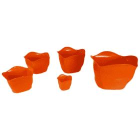 Cachepô plástico laranja