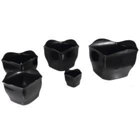 Cachepô plástico preto 1