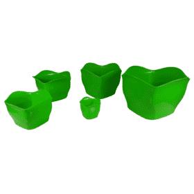 Cachepô plástico verde