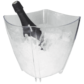 Balde de champanhe transparente