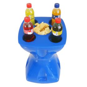 Mesa-banqueta multiuso azul