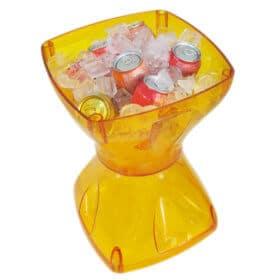 Mesa-banqueta multiuso amarela
