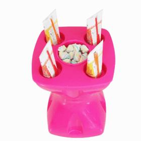 Mesa-banqueta multiuso pink