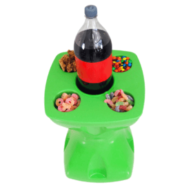 Mesa-banqueta multiuso verde 1