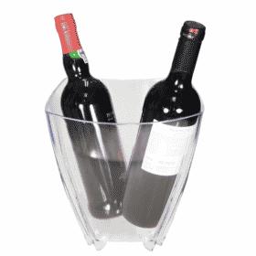 Balde de champanhe com vinhos