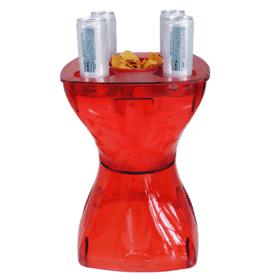 Mesa-banqueta multiuso vermelha